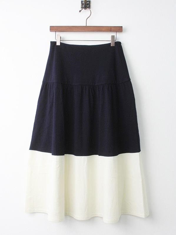 エリサ マラン×ブランカッセ バイカラーニットスカート
