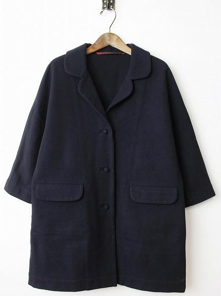 ウール 編みボタン コート
