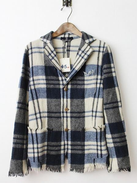 フロート縮絨チェックシャツジャケット