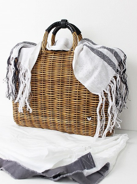 リトアニアリネン手織り 平大きめトートバッグ