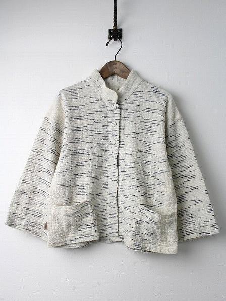 手織り 天然草木染め インディゴ ミックス 羽織り ジャケット