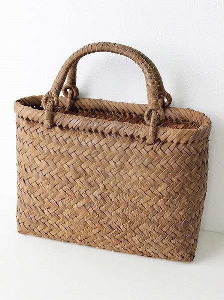 斜め網代編み かごバッグ