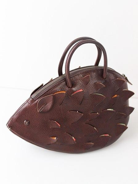 porcupine ハリネズミ レザーハンドバッグ