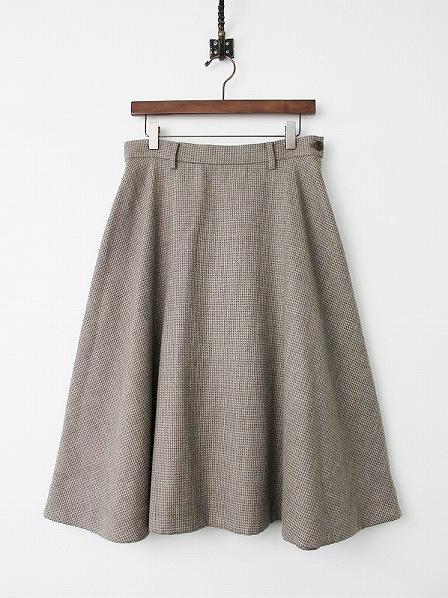 千鳥格子 ウール ツイード スカート