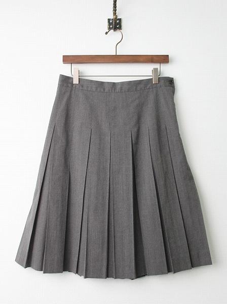 コットン ウール プリーツ スカート