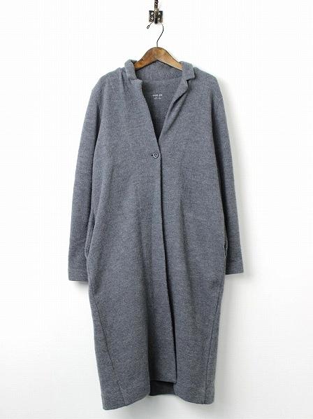 press wool long coat プレスウールロングコート