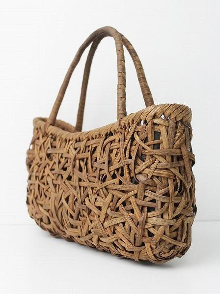 山ぶどう 山葡萄 乱れ編み かごバッグ