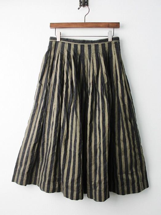 リザ グラン ストライプ フレア スカート