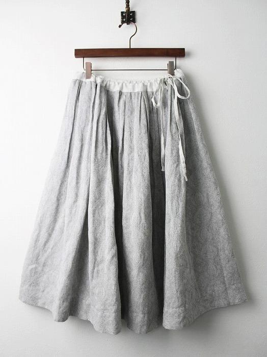 LS-17E354 ジャガード織り オリエンタル フレアスカート