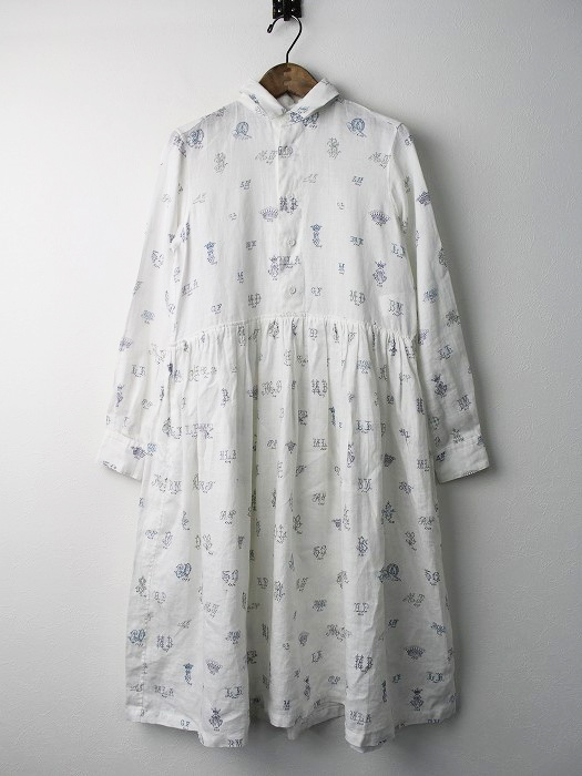 MONOGRAM LINEN SHIRT DRESS ワンピース