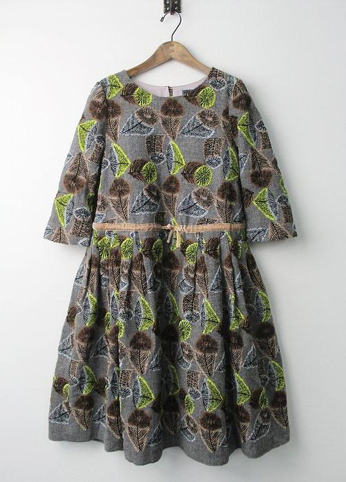 hana no mi 刺繍 ウール ドレス