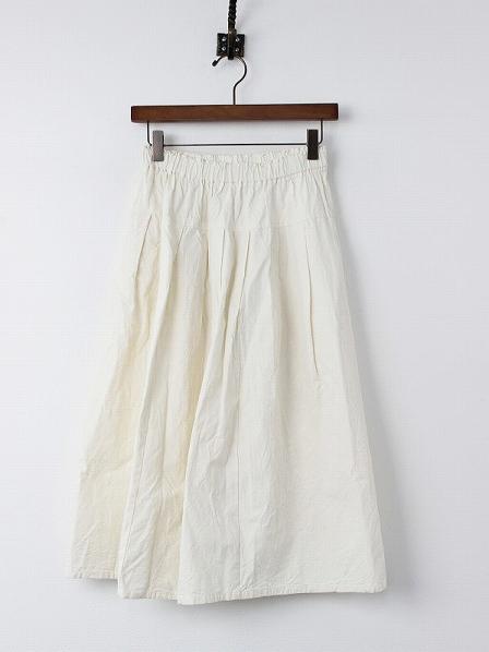 コットン タック フレア スカート