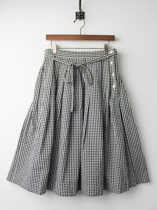 578-7132003 GINGHAM COTTON POPLIN スカート