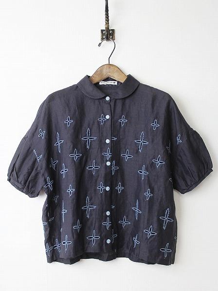 wild star ラウンドカラー刺繍ブラウス