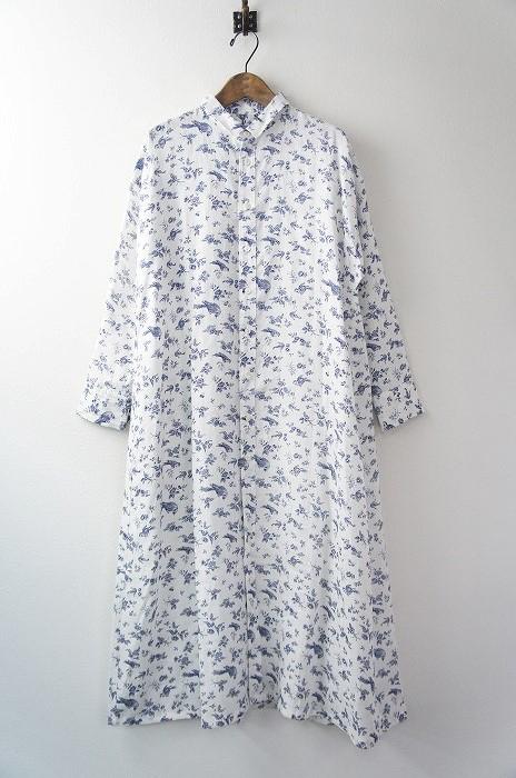 GARDEN ハンド プリント ロング シャツ ドレス