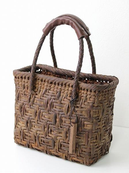 国産 亀甲編み 山ぶどう かごバッグ