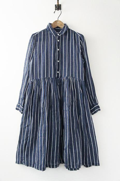 ブッチャー ストライプ シャツ ドレス