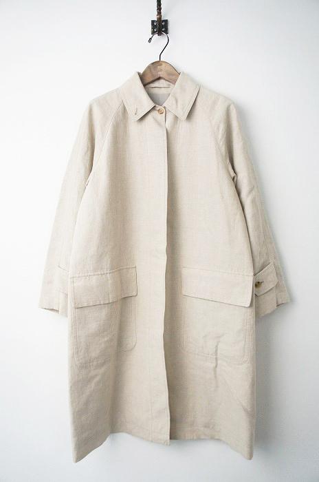 PLAIN WEAVE LINEN ステンカラー コート