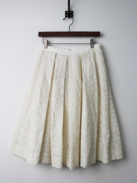 ペイズリー刺繍スカート