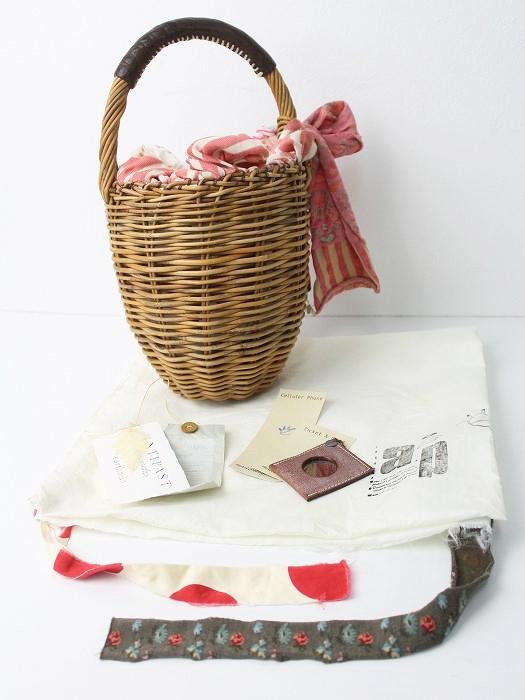 ×ANTIPAST アンティパスト コラボ リボン 紅籐かごバッグ