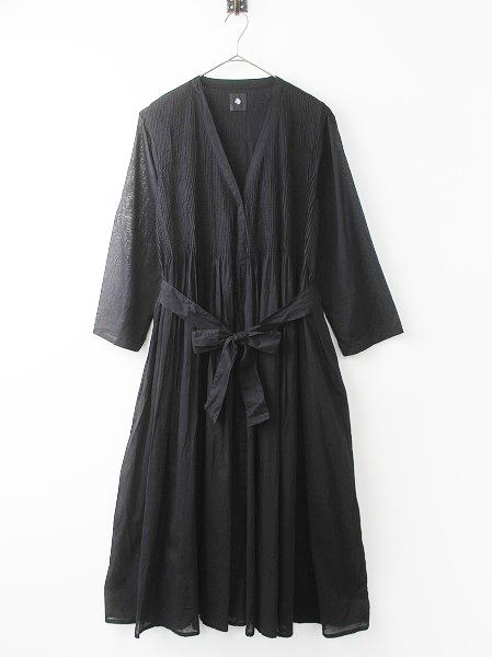 80'S ORGANIC VOILE WRAP DRESS カシュクール 2Way ラップ ドレス