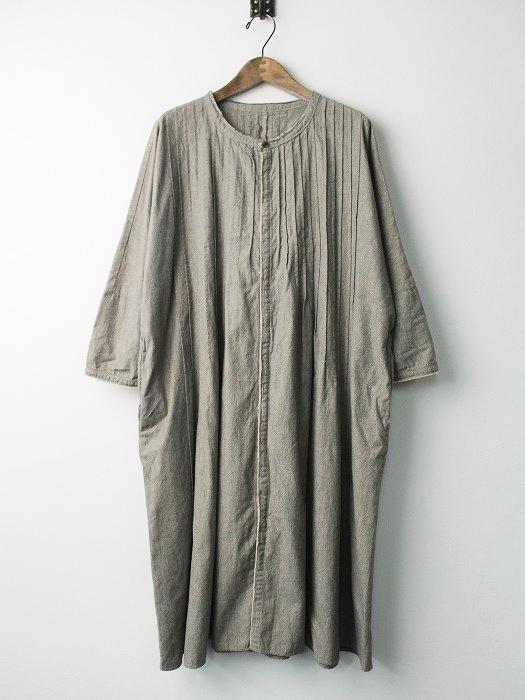 K1501OP113 杢 シャンブレー ピンタック オキーフ ドレス