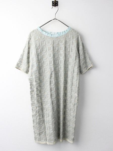 dear 刺繍 シルク ワンピース