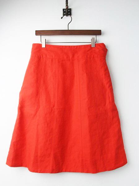 リネン 台形 スカート