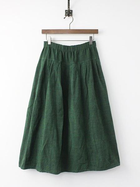 会律 木綿 フレア ギャザー スカート