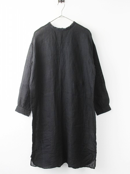 S26-1800200 back opening crew neck shirt dress