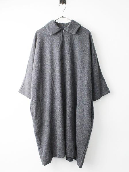 ウールカシミヤ 襟付き ワンピース
