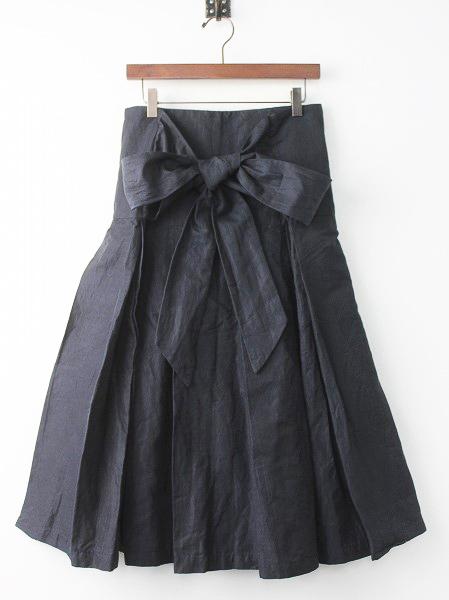 ワイド プリーツ タイ スカート