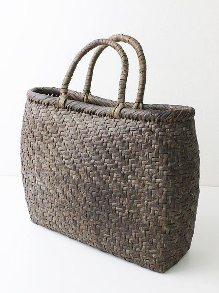 伝統工芸品網代編み 手提げ かご バッグ