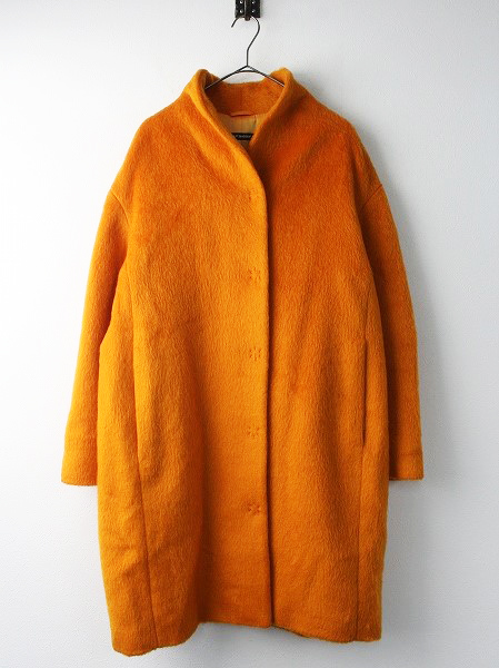 スタンドカラー ウール コクーン コート