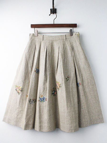 ギマツイード 刺繍 スカート