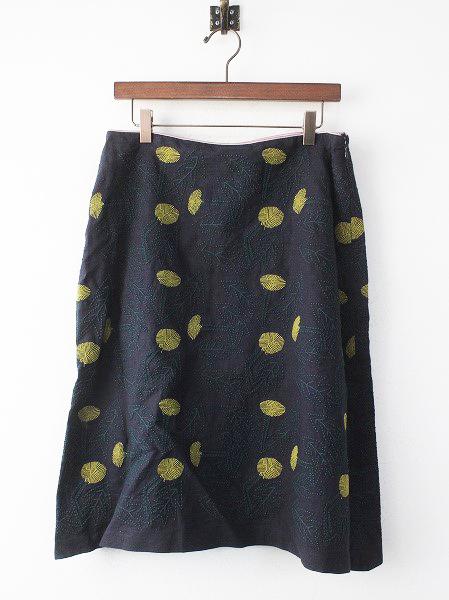 ws5063 tanpopo 刺繍 リネン スカート