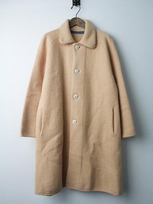 フロートアルパカ 縮絨 ステンカラー コート