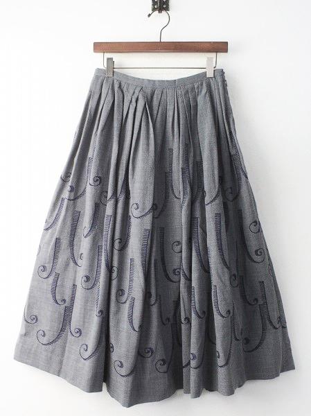 coda 刺繍 フレア スカート