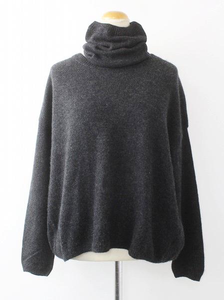 7118098 ネックウォーマー付き カシミヤ 馬比古 セーター