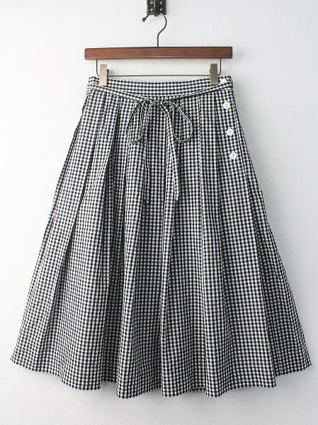 ギンガムチェック プリーツ スカート
