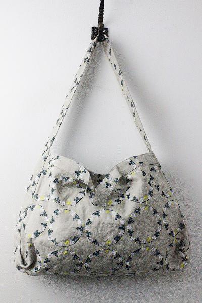 marble SUDEMB 花かんむり 刺繍 リネン 2way ショルダーバッグ
