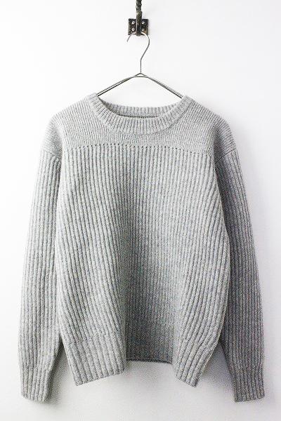 595-8263506 DRY LAMBS WOOL 畦編み ウール ニット セーター