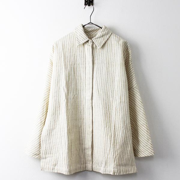 USAATO手織り 天然草木染め 比翼 シャツ