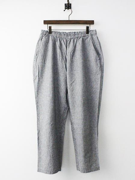 綿 麻 ギャザー パンツ