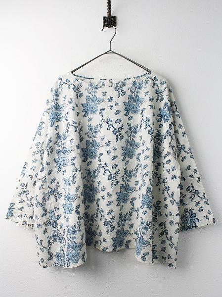 45rpmカディブロック プリント 歳時記 Tシャツ