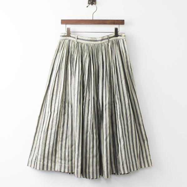 45rpmインディゴ シャツ サテン プリーツ スカート