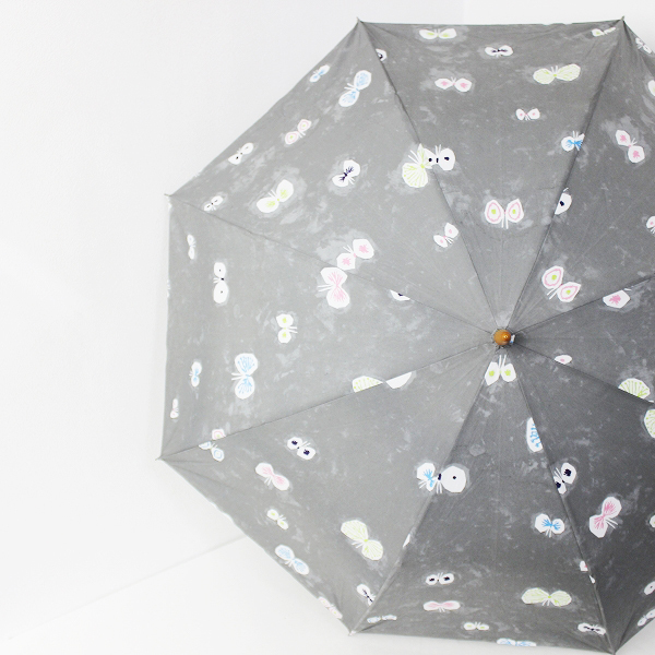 ELLE 70周年 限定 hana hane 折りたたみ 晴雨兼用傘