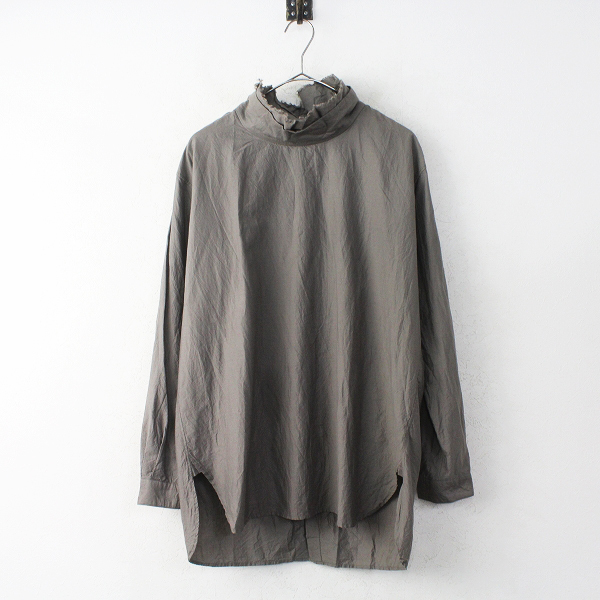 TOUJOURSBack To Front Layered High Neck Shirt バックボタン ハイネック シャツ
