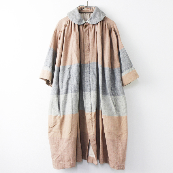 KAPITAL丸襟 配色 ギャザー コート