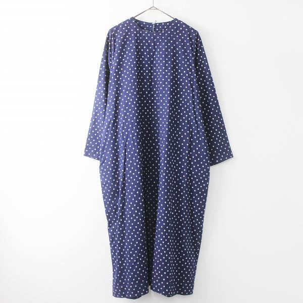 二重織水玉プリントのドレス